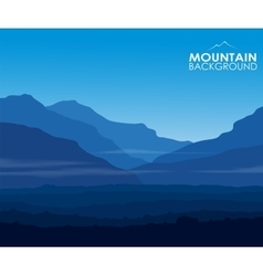 Landscape with huge blue mountains vector
