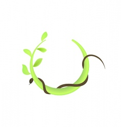 leaf and snake vector image vector image