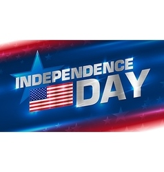 Lettering Independence Day on the background vector image vector image