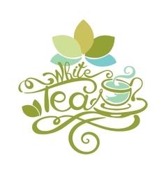 Lettering - white tea vector