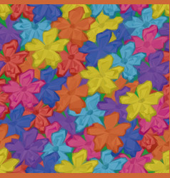 Low poly floral background vector