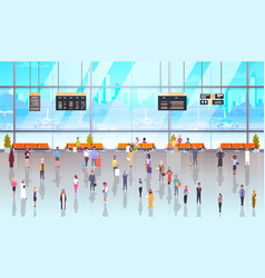 modern airport interior people passengers with vector image vector image