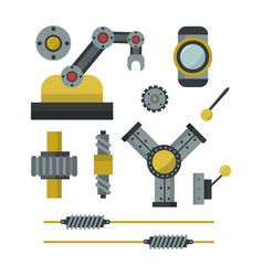 part of machinery manufacturing work detail gear vector image vector image