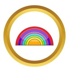 Rainbow lgbt icon vector