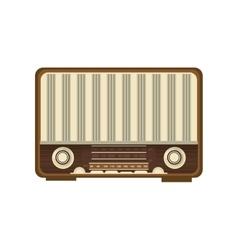 retro radio icon vector image vector image