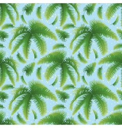 Seamless background palm leaves and sky vector image vector image