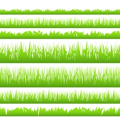 Seamless green grass vector