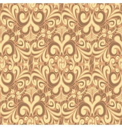 Seamless vintage brown background vector image vector image