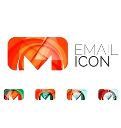 Set of abstract email icon business logotype vector image