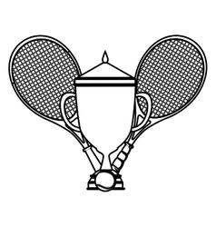 Tennis sport trophy award vector