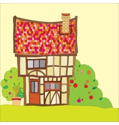 Tudor house vector