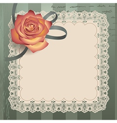 Vintage lace square vector