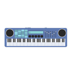 vintage synthesizer musical equipment flat design vector image vector image