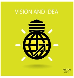 vision and ideas sign vector image