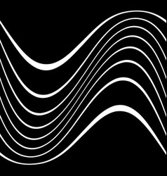 Wavy lines on black vector