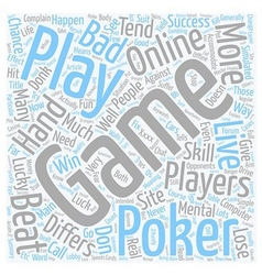 Why Online Poker Differs So Much From Live Poker vector image vector image