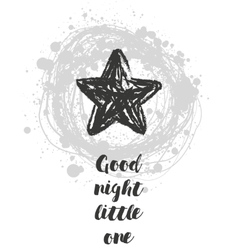 with cartoon handdrawn star vector image vector image