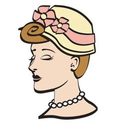Woman wearing a bonnet vector