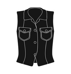 women sleeveless sports jacket beige button-down vector image vector image