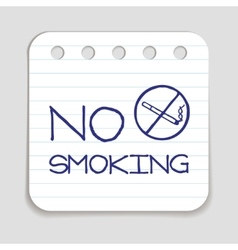 No smoking doodle icon vector