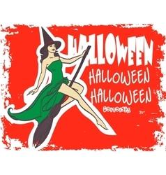 Halloween art design poster invitation Sexy vector image