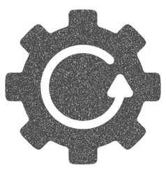 Gear rotation grainy texture icon vector