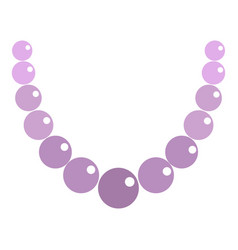 pearl necklace icon isolated vector image