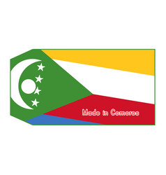 Comoros flag on price tag with vector