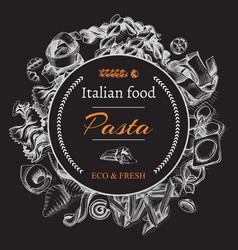 Sketch - pasta card italian vector
