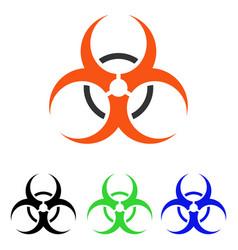Bio hazard flat icon vector
