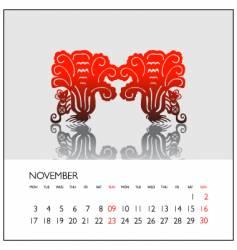 2008 calendar november vector