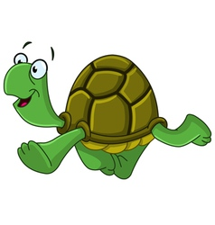 walking turtle vector image