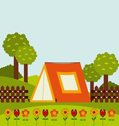 Camping concept vector