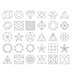 Set of trendy geometric icons vector