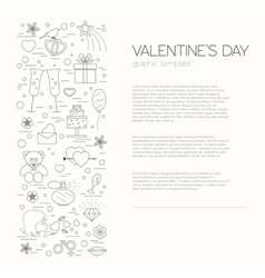 Valentines day design template graphic elements vector