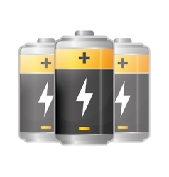 Battery icons graphic vector image