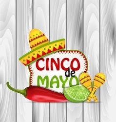 Holiday greeting background for cinco de mayo vector