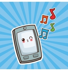 Kawaii cartoon technology and social media vector