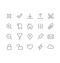Line interface icons vector