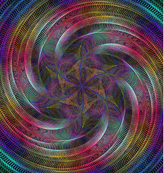 Abstract shiny fractal spiral design background vector