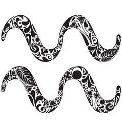 Aquarius zodiac sign vector image vector image