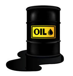 Barrel with oil vector
