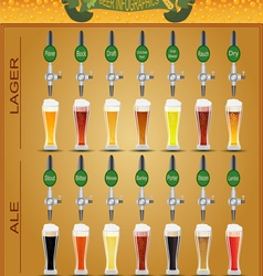 Beer menu set creating your own infographics vector image vector image