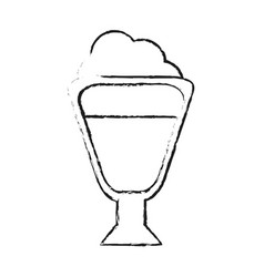Beverage with foam coffee related icon image vector