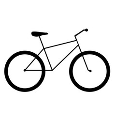 Bicycle the black color icon vector