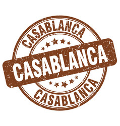 Casablanca brown grunge round vintage rubber stamp vector