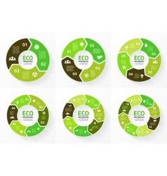 Circle ecology infographic nature care vector