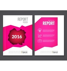 Cover Report Business Pink Red Hole Geometric vector image