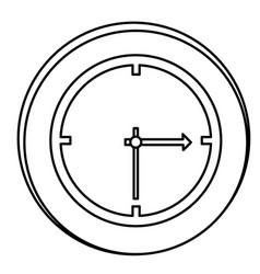 Figure clock emblem icon vector