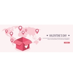 Flat background with box and vector image vector image